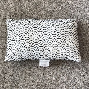 White and Black Decorative Pillow